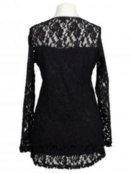 Pullover mit Spitze, schwarz (Bild 2)