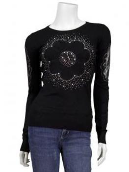 Pullover mit Spitze, schwarz von Memory & Co von Memory & Co
