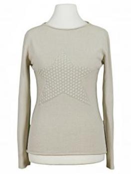 Pullover mit Stern, beige (Bild 1)