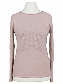 Pullover mit Stern, rosa