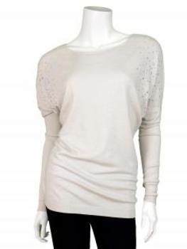 Pullover mit Strass, beige