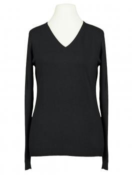 Pullover mit V-Ausschnitt, schwarz