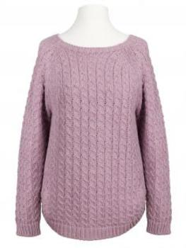Pullover Zopfmuster, rosa (Bild 1)