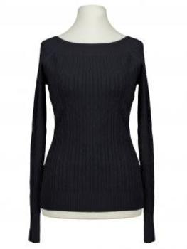 Pullover mit Zopfmuster, schwarz