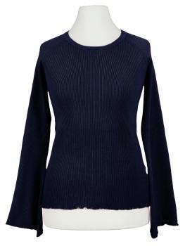 Pullover Rüschen, blau
