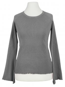 Pullover Rüschen, grau