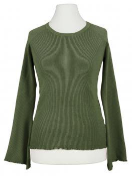 Pullover Rippstrick, khaki von Esvivid (Bild 1)