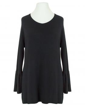 Pullover Trompetenarm, schwarz (Bild 1)