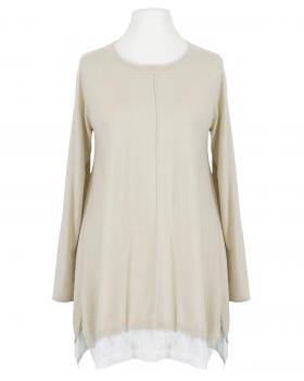 Pullover Tunika Stil, beige (Bild 1)