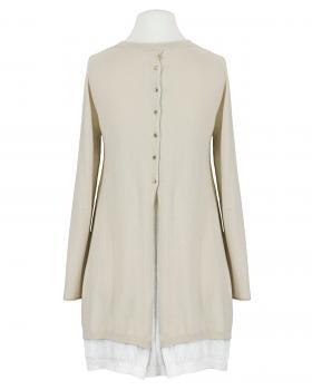 Pullover Tunika Stil, beige (Bild 2)