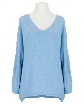 Pullover V-Ausschnitt, blau von Selected Touch