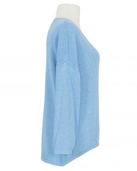 Pullover V-Ausschnitt, blau (Bild 2)