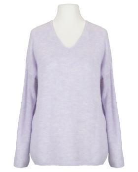 Pullover V-Ausschnitt, flieder von Italia Moda