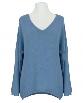 Pullover V-Ausschnitt, jeansblau von Selected Touch