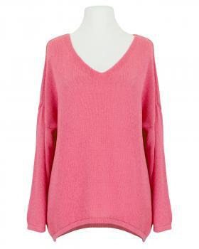Pullover V-Ausschnitt, koralle von Selected Touch