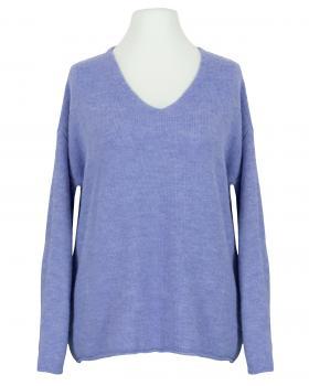 Pullover V-Ausschnitt, lavendelblau von Italia Moda
