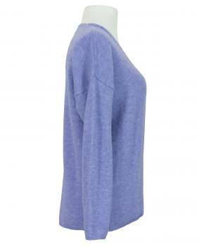 Pullover V-Ausschnitt, lavendelblau (Bild 2)