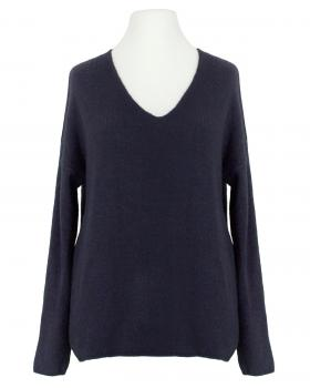 Pullover V-Ausschnitt, marine von Italia Moda