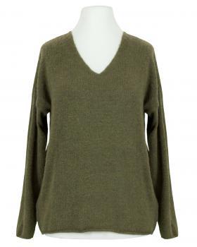 Pullover V-Ausschnitt, oliv (Bild 1)