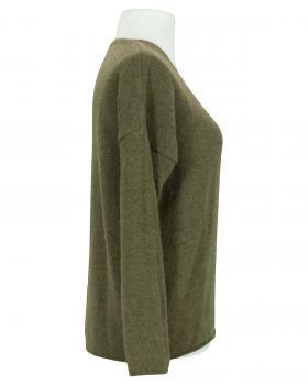 Pullover V-Ausschnitt, oliv (Bild 2)