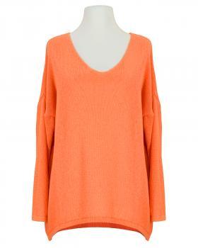 Pullover V-Ausschnitt, orange von Selected Touch