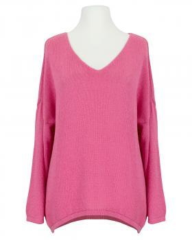 Pullover V-Ausschnitt, pink von Selected Touch