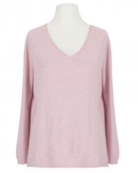 Pullover V-Ausschnitt, rosa von Selected Touch