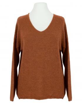 Pullover V-Ausschnitt, rost von Italia Moda