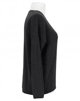 Pullover V-Ausschnitt, schwarz
