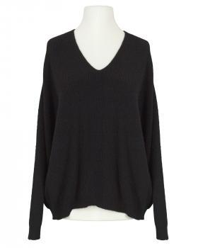 Pullover V-Ausschnitt, schwarz von Monday Afternoon