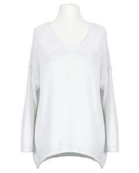 Pullover V-Ausschnitt, weiss von Selected Touch