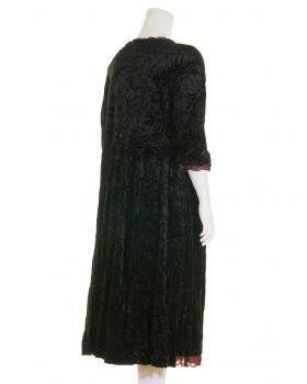 Samtkleid A-Form lang, schwarz