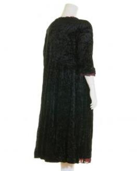 Samtkleid A-Form lang, schwarz (Bild 2)