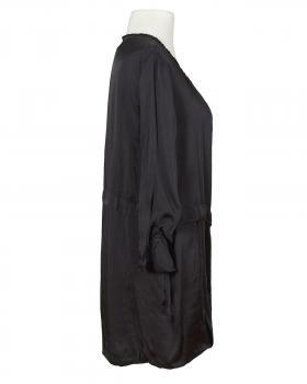 Satin Jacke mit Seide, schwarz (Bild 2)