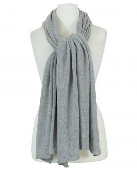 Schal mit Kaschmir, grau von Moda Italia