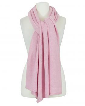 Schal mit Kaschmir, rosa von Moda Italia