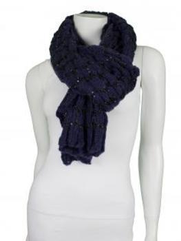 Schal mit Pailletten, blau
