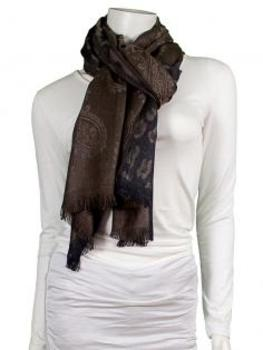 Schal mit Paisley Muster, coffee von fashion made in italy (Bild 1)