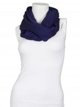 Schlauchschal, dunkelblau von fashion made in italy