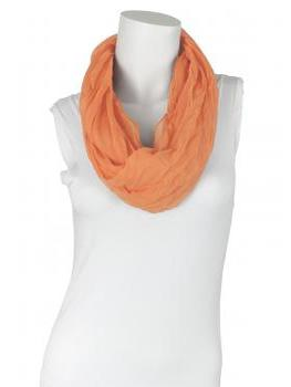 Schlauchtuch Loop mit Seide, orange von fashion made in italy von fashion made in italy