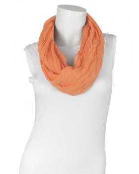 Schlauchtuch Loop mit Seide, orange von fashion made in italy