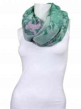 Schlauchtuch mit Ornamentprint, grün