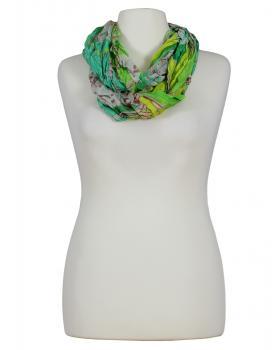 Schlauchtuch mit Seide, grün von fashion made in italy von fashion made in italy