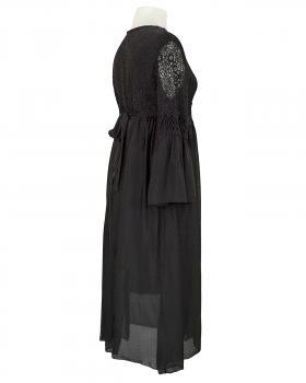 Seidenkleid mit Spitze, schwarz (Bild 2)