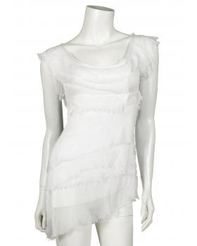 Shirt mit Seide, weiss von Made in Italy