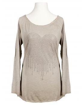 Shirt Herz, taupe von Spaziodonna (Bild 1)