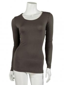 Shirt langarm, schlamm (Bild 1)