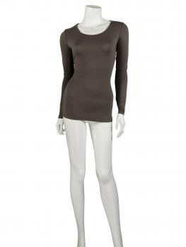 Shirt langarm, schlamm (Bild 2)