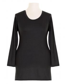 Shirt langarm, schwarz