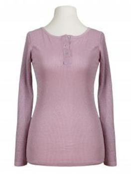 Shirt langarm mit Lurex, rosa (Bild 1)
